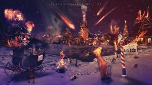 Santa's village on fire by dreamswoman