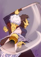 Gintoki+Katsura -gintama- by none-of-the-sort