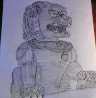 chinese guardian lion by xboxspartan1337-war