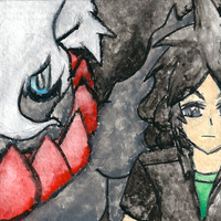 Darkrai + Me by TrainerKelly