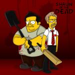 Shaun of the Dead by SimpsonsCameos