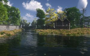 Water with house by tonixus