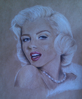 Marilyn Monroe sketch by misguidedeyes