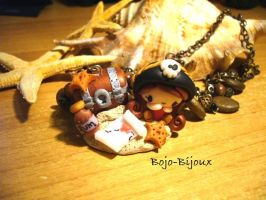 "Necklace ""Pirate and Tresaure"" by Bojo-Bijoux"