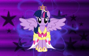 Princess Twilight Sparkle Wallpaper by DeadToMyWorld