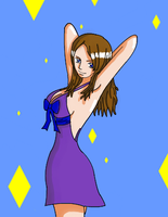 dressed for a party coloured by sugared-spice
