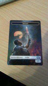 Soldier Token - Full Art Extension by BlacklightOfDawn