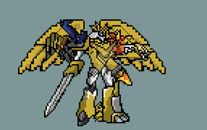 Shoutmon ex6 sprite by yurestu