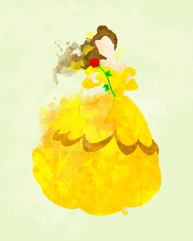Beauty and the Beast: Belle Art Print by Nissie