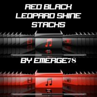 RED BLACK LEOPARD SHINE STACKS by emerge78