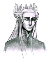 Thranduil Sketch by Alimika