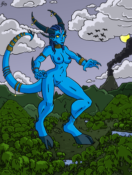 Horny - The Dragon Goddess by bloodyinkpen