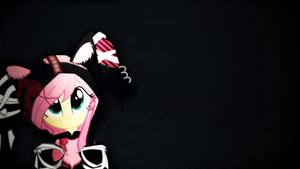 Bunny Fluttershy | Wallpaper by arkkukakku112