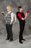 Good Omens cosplay Desucon 2012 by zimby-chan