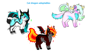 |:.Cheap Cat Dragon Adoptables.:|OPEN by WaffIo