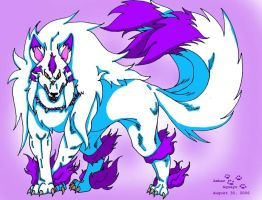 inuyasha demon form dog by PinkScooby54