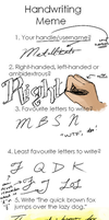 The meme of writing with hands by Metallikato