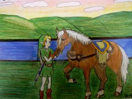 Link and Epona Finished by SheikahLover