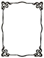 Art Nouveau Ink Picture Frame by Enchantedgal-Stock