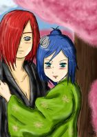 AT- Nagato x Konan_Under pink by LaVidel