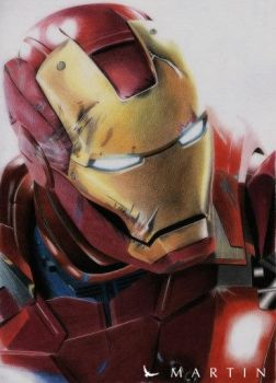 Iron Man 3 colour drawing by Martin--Art