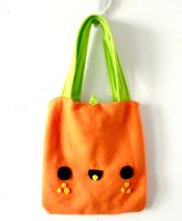 Square Orange Tote by CosmiCosmos