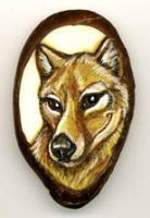 Thylacine Tagua Pendant by Foxfeather248