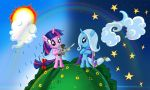 Twilight Sparkle n Trixie by alexmakovsky