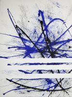 blue-black-calligraphie by bellsley
