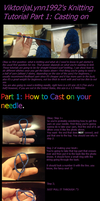 Knitting Tutorial Part 1 : Casting on the needle by Poppycock-Cosplay