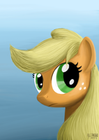 Applejack Portrait by VSabbath