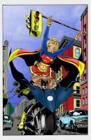 Supergirl BatWoman color by ericalannelson