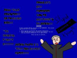 Hidan's Blue Screen of Death by Freak-Artist