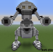 Minecraft Metal war machine by N0V4T0