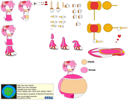 Character Builder-Sonic Riders Amy by Kphoria