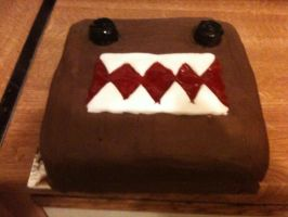 Domo-kun Birthday Cake by stumpy666davies