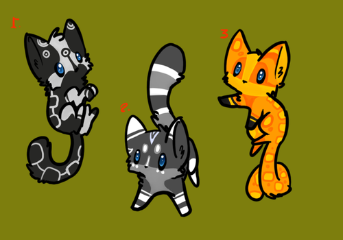 Kitten adoptables batch  2 by Prince-Lionel