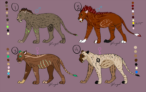 Saber Cat Adopts (3/4 OPEN) by Renigaed