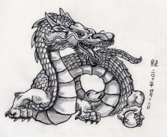 Asian Dragon by HirokoChan