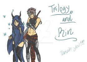 Trilogy And Rin For 50 by empressofcheese