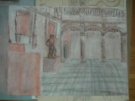 Drawing of Museum Hall 2 by Xoxorian