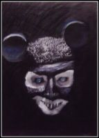Marilyn Manson as Mickey Mouse by laviedesmortes
