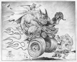 Big Wow auction Piece Batman by rattlesnapper