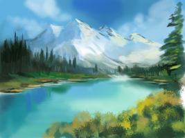 Mountain landscape study by Eliminate