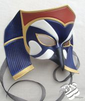 Egyptian Horus Single Crown Version Leather Mask by b3designsllc