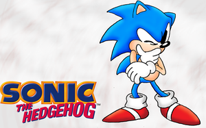 Classic Sonic wallpaper by ashthedragon