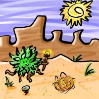 Duel of the Desert Plants by OutcastWolf