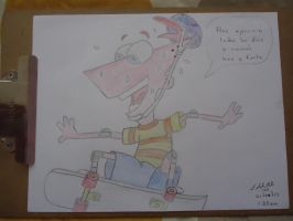Phineas practicando skate by napo1