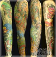 Oriental Full Sleeve by state-of-art-tattoo