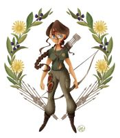 Strong Female Protagonist, Katniss Everdeen by jessisamess